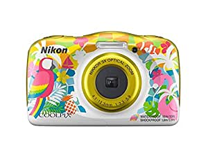 Nikon Coolpix W150 13.2 MP Waterproof Camera with Full HD Recording with 16GB Card and Camera Case (Yellow)
