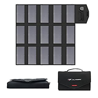 ALLPOWERS Solar Charger 100W Solar Panel Foldable Portable with Dual 5v USB18v DC for Laptop, Tablet, ipad, iphone, Samsung, Notebook, 12v Car, Boat, RV Battery, Camping, Hiking, Travel