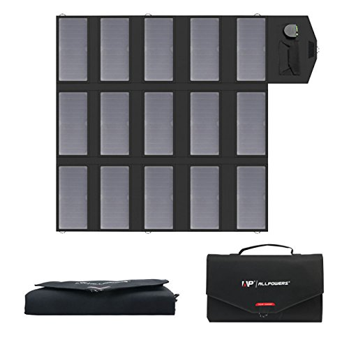 ALLPOWERS 100W Solar Ladegerät (18 V DC und 5V USB Dual Ausgang Ladegerät) SunPower Faltbar Solar Panel 12V Outdoor für Laptop, 12V Auto Batterie, Tablet, iPad, Handy, iPhone, Samsung, RV, Camping (Usb-port Solar-panel)
