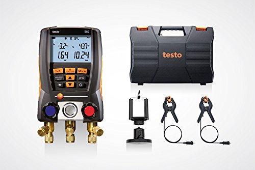 testo 550 Set 0563 1550 - Digitale Monteurhilfe mit Bluetooth + Kleinschmidt GmbH Magnet-Smarphonehalter -