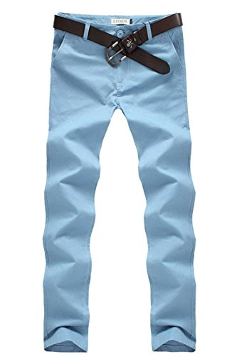 Minetom Slim Fit, Pantaloni da Uomo, Gioventù e Popolare ( Cielo blu IT 46 ( Vita 90-94 cm ) )