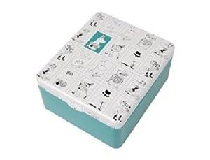 Mignon Caractères Moomin boîte à thé en étain avec couvercle