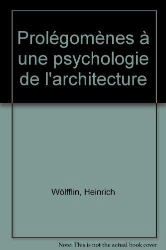 Prolégomènes à une psychologie de l&#...