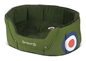 Scruffs Dog Bed Donut Aviator Canvas Green Large