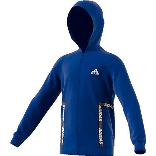 adidas Unisex-Kinder Yb Sid Br Fz Hd Sweatshirt, Mehrfarbig (Reauni/Blanco), 116