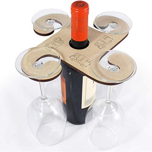 Azeeda 'Wohnmobil' Weinglashalter / Flaschenhalter (GH00040546)