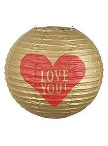 Boland Farol esférico de Papel con corazón -Love You