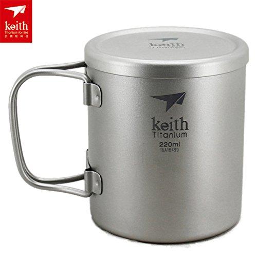 Keith Titan Double Wall Cup leicht Becher Tasse im Freien Camping Mug Only 83g KS813