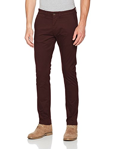 SELECTED HOMME Herren Hose Shhyard Decadent Choco Slim St Pant Noos Braun (Decadent Chocolate)