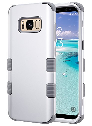 c109535d173 ULAK Galaxy S8 Caso, S8 Funda, Fashion Hybrid 3 Capas a Prueba de Golpes