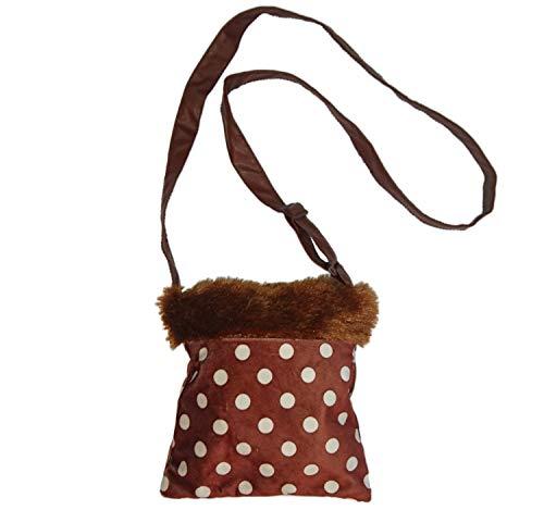 Orlob Handelsgesellschaft Handtasche REH Tasche braun Plüsch-Tasche gepunktet Kostüm-Zubehör Fasching - Jäger Und Reh Kostüm