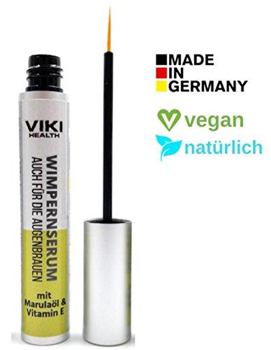 VIKI HEALTH Wimpernserum - für superlange Wimpern - 100% natürlich - schnelles Wimpernwachstum- mit Retinol, Rizinusöl und Arganöl - made in Germany - auch für Augenbrauen