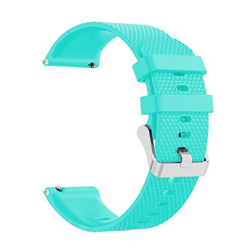 Knowin Uhrenarmband Sport Soft Silikonband Ersatzband für Samsung Galaxy Watch Active Silikon Uhrenarmband 20mm mit Schnellverschluss in 7 Farben, Regenbogen Weich Uhrenarmband mit Edelstahlschnalle