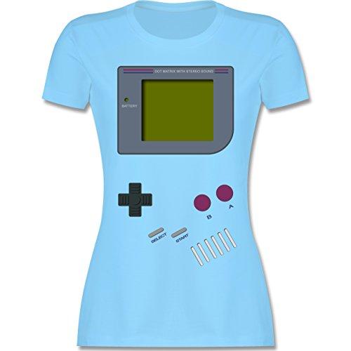 Nerds & Geeks - Gameboy - M - Hellblau - L191 - Damen Tshirt und Frauen T-Shirt