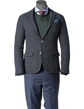CINQUE Herren Sakko Polyester Anzugjacke Mit Muster, Größe: 50, Farbe: Schwarz