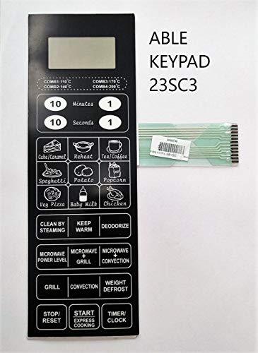 Able Plastic Microwave Oven Membrane Keypad , Model No : 23SC3, 29 Oz, Black