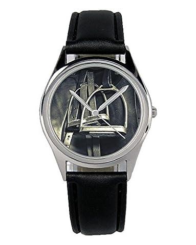 Steigbügel Sattel Geschenk Fan Artikel Zubehör Fanartikel Uhr B-2793