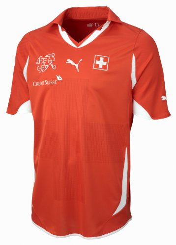 PUMA Herren Schweiz Heim-Trikot Replica, ribbon red-suisse, XXL, 736889 13