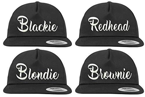 Youth Designz Baseball Kappe Snapback Cap Modell BROWNIE Schwarz