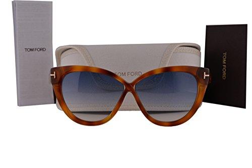 Tom Ford Frau FT0511 Arabella Sonnenbrille w/Blau Gradient Lens 53W TF511 Licht Havana groß