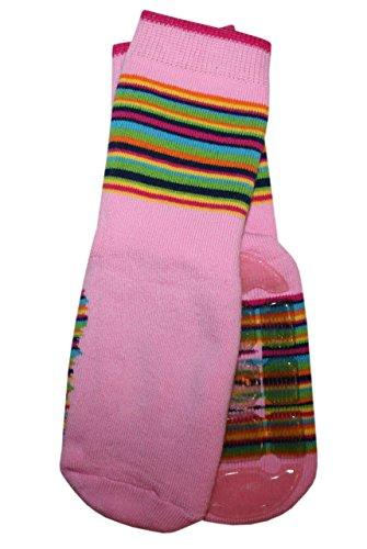Weri Spezials Unisexe Bebes Voll-ABS-Turtle Chaussettes Colorful mondiale! Rose 12-24 Mois (19-22)