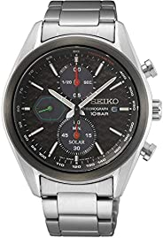 Seiko Chronograph Black Dial Stainless Steel Men's Watch SS