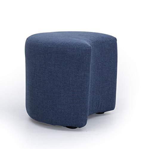 SYFO Home Kreative Massivholz Stuhl Stoff Stoff Kissen Schuhe Hocker Abnehmbare Kunststoff Fuß Hocker Vier Farben Optional Hocker (Farbe : Lila) -