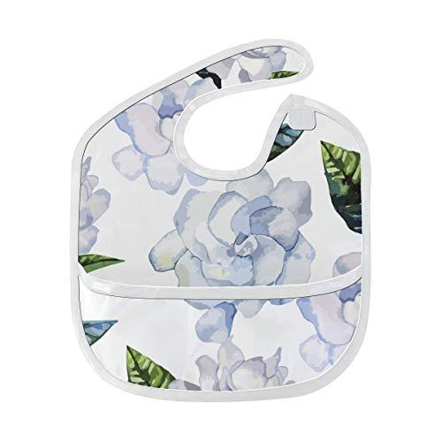 Elegantes duftendes Gardenia Gewohnheits weiches wasserdichtes Fleck geruch beständiges Baby das Dribble Sabberlätzchen Lätzchen spuckt Tücher für Säuglingsoverall für 6-24 Monate Kindergeschenk -