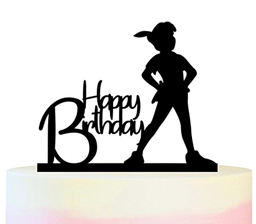 Innovedesire Happy Birthday Peter Pan Kuchenaufsätze Hochzeit Geburtsta Acryl Dekor Cupcake Kuchen Topper Stand für Kuchen Party Dekoration 11 Stück (Acryl-pan)