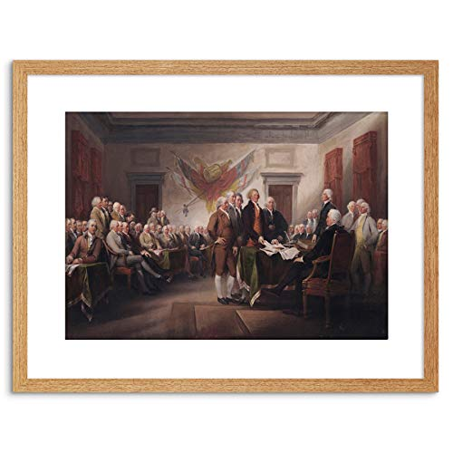 TRUMBULL THE JULY 4TH 1776 DECLARATION OF INDEPENDENCE FRAME ART PRINT  F97X13104
