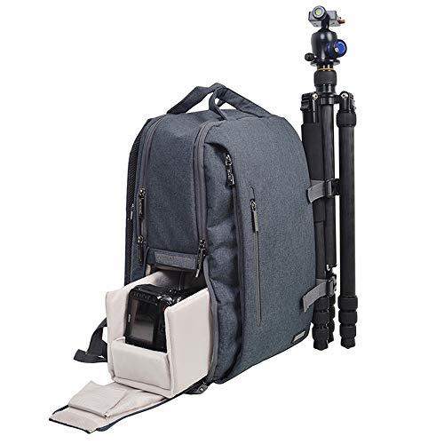 LCJ-Kamerarucksack, SLR-Kameratasche und Objektivkameratasche Diebstahlsicherer, wasserdichter Rucksack für großvolumige Fotografie für einen 14-Zoll-Laptop,Black - Pentax Speicherkarten