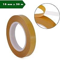 Doble cara cinta adhesiva, autoadhesivas, en ambos lados Stark adherencia adhesiva doble Dos cara montaje cinta adhesiva (18mm x 50m)
