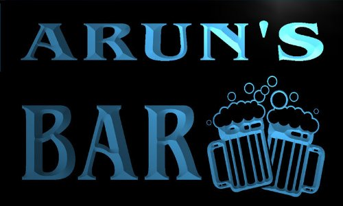 w131398-b-arun-name-home-bar-pub-beer-mugs-cheers-neon-light-sign