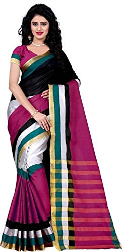 Trendz Style Striped Cotton Silk Saree (TZ_Suzata_Pink)
