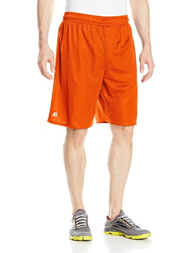 Dri-mesh Short (Russell Athletic Herren Mesh-Shorts (ohne Taschen) - Orange - 4X-Groß)