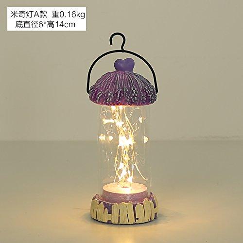 KIKIXI LED Star Light Laterne Schlafzimmer Kleine Nacht kreative Ornamente Dekoration Licht Kleine Tischlampe Mädchen Geburtstag Geschenk, Mickey Licht EIN - Mickeys Bier