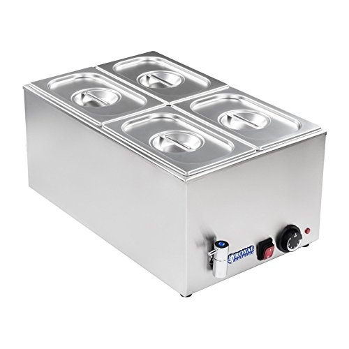 Royal Catering - RCBM-1/4-150A-GN - Bain Marie 1/4 - max 95°C - 230 Volt - 1200 Watt - 150mm depth - integrated drain Test