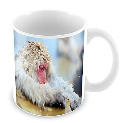 Mug macaque source d eau chaude japon animaux jigokudani
