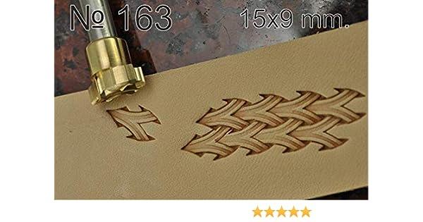 Handwerk Sattel Messing #100-4 Leder-Werkzeug Stempel Schnitzstanzer