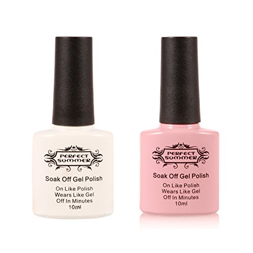 perfect-summer-2pcs-french-manicure-kit-gel-nail-polish-soak-off-uv-led-pink-color-white-color-10ml-