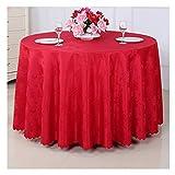 YEUNG Tovaglia Rotonda Hotel Restaurant Kitchen Meeting Coffee Table Panno in Fibra Anti-scottatura Antipolvere Partito Indoor Outdoor (Colore : Red, Dimensioni : 260cm)