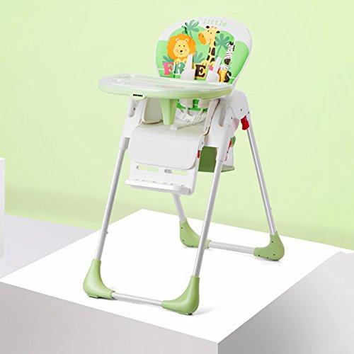 LVZAIXI Bébé à Manger Chaise Enfants et Enfants Ont Table de dîner bébé Pliable Multifonctionnel Portable Multifonctionnel de qualité Alimentaire matériel adapté pour 0-4 Ans (Couleur : Vert)