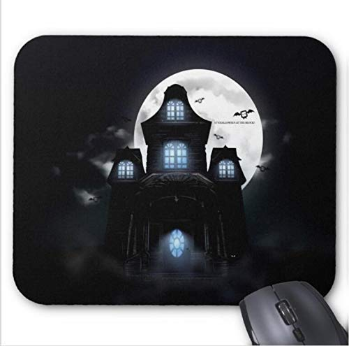 SHAQ® Scary Halloween 2020 Haunted House Mouse Pad Mauspads 8.6 X 7.1 in