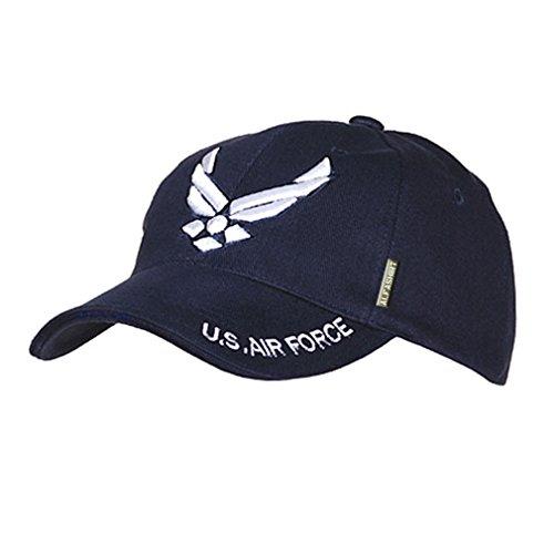 US AIR FORCE Cap Kappe USAF USA Luftwaffe Wappen Abzeichen Wings United States Amerika Pilot Wingman Luftstreitkraft Mütze Fan Logo Uniform#16021 (Air Abzeichen Force Us)