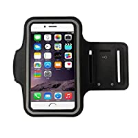 iphone 6s Armband (4.7Inch), Koly Running Sports Sweatproof Armband Gym Iphone 6/6s Arm Band Cover Case (Black)