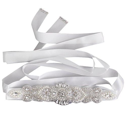 Gazechimp Hochzeitskleid Brautband Prom Gürtel Braut Accessoires Handgemachte Schärpe