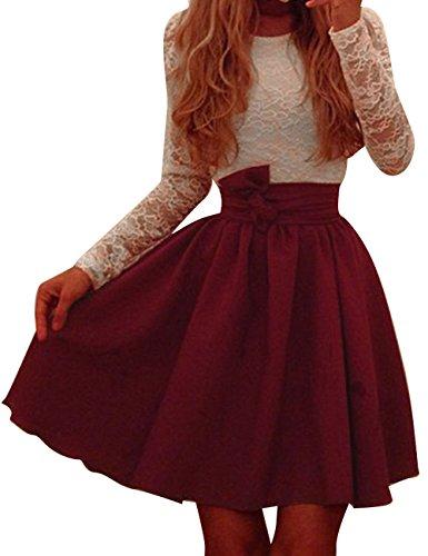 Pinkyee Damen Kleid Gr. L, Rot - Weinrot