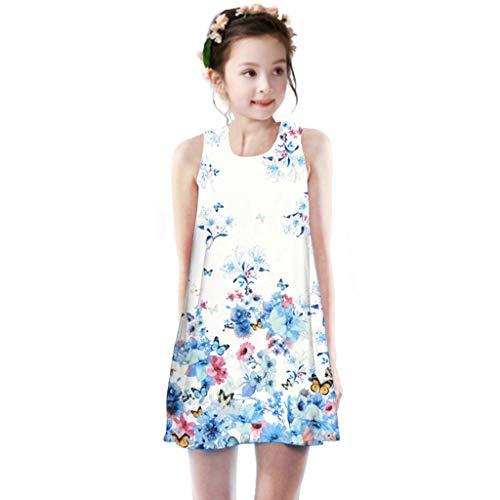 n Prinzessinenkleid, Mode Drucken Spitzenkleid Party Weihnachten Abendkleid, Elegant für Hochzeit Party Geburtstag Outfits Kleidung Weste Kleider ()