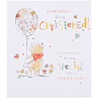 Hallmark Disney Baby Winnie the Pooh Christening Card Someone Special - Small