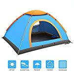 Camping Tent for 3-4 People, Tents Pop Up Instant Automatic Backpacking Dome Tents Waterproof Tent for Outdoor Sports...
